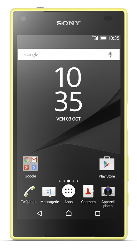 sony xperia z5 compact 4g jaune top achat. Black Bedroom Furniture Sets. Home Design Ideas