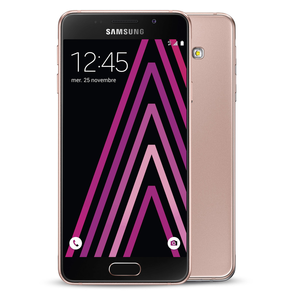 coque samsung a3 2016 or rose