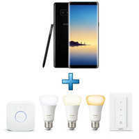 Samsung Galaxy Note 8 - Noir Carbone + Pack Philips Hue - White ambiance
