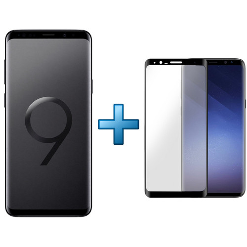 Samsung Galaxy S9 Plus - Noir Carbone + Film de protection d'écran