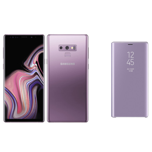 Samsung Galaxy Note 9 128 Go Orchidée + Folio Clear View