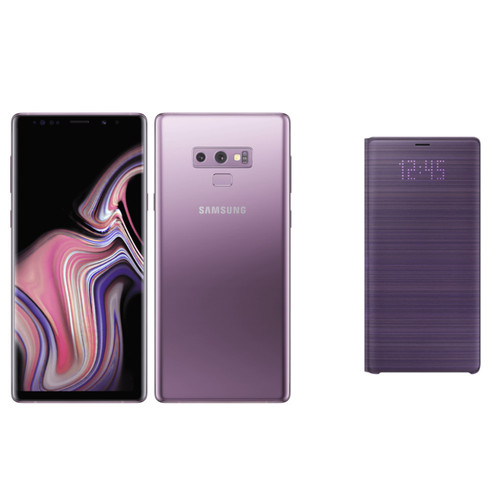 Samsung Galaxy Note 9 128 Go Orchidée + Folio LED View