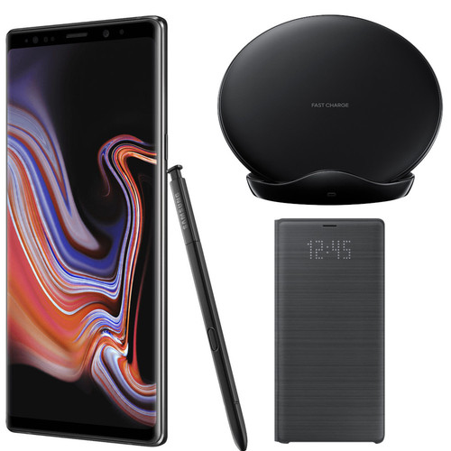 Samsung Galaxy Note 9 - 128 Go - Noir + Chargeur à induction + LED View cover