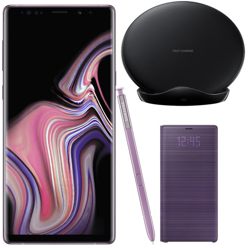 Samsung Galaxy Note 9 - 128 Go - Orchidée+ Chargeur à induction + LED Cover