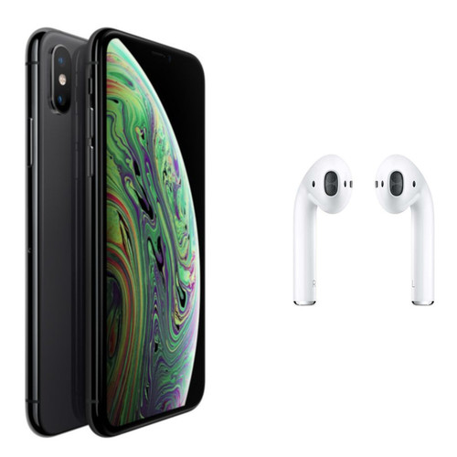 Apple iPhone Xs Max - 64 Go - Gris Sideral + Airpods