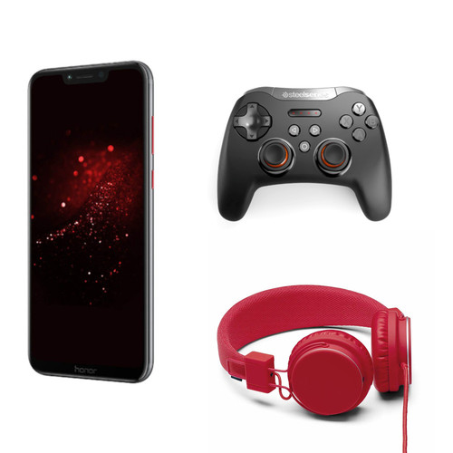 Honor Play - Spécial Edition + Casque Plattan Rouge + Manette Steelseries