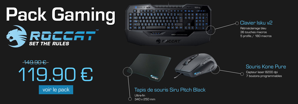 Pack Gaming Roccat � 119.90 � !