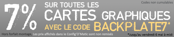 7% cartes graphiques code BACKPLATE7