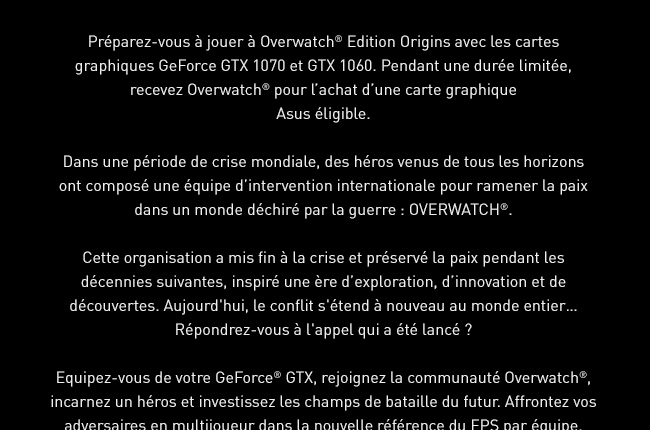 NVIDIA ASUS OVERWATCH