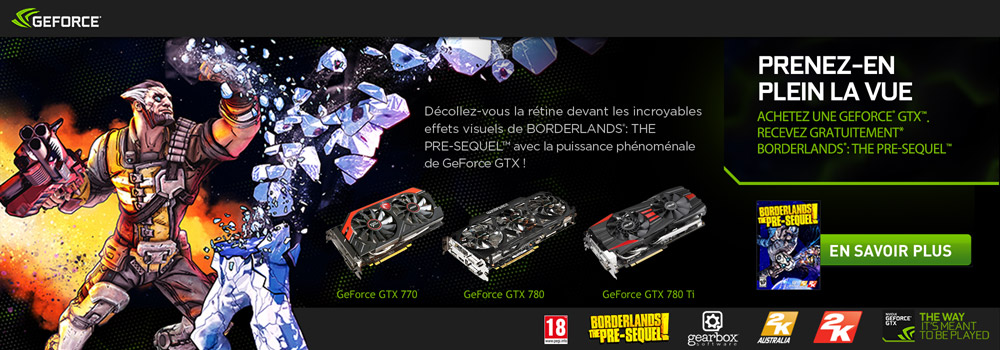 BORDERLANDS: THE PRE-SEQUEL OFFERT avec NVIDIA !