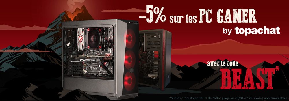 -5% sur les PC gamer by topachat
