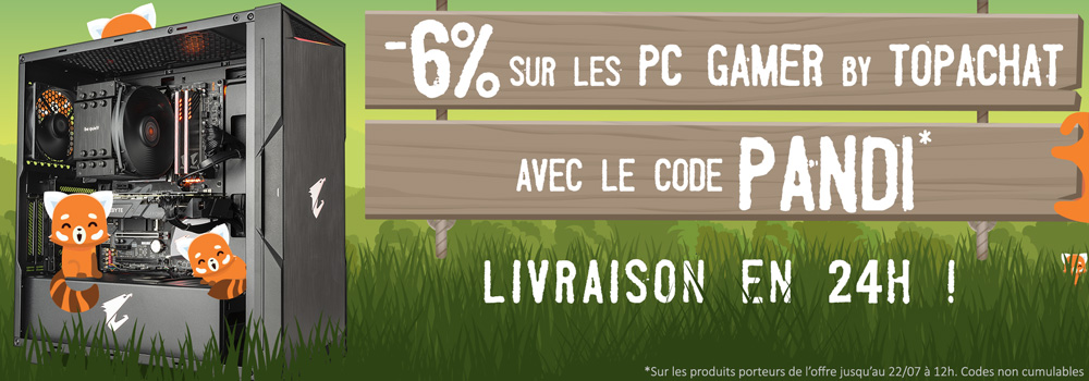 -6% sur les PC gamer by topachat