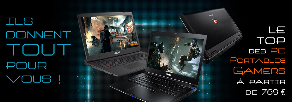 le top des PC portables gamers � partir de 769 �
